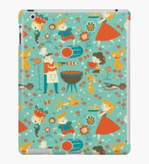 Vintage family summer cookout iPad Case/Skin