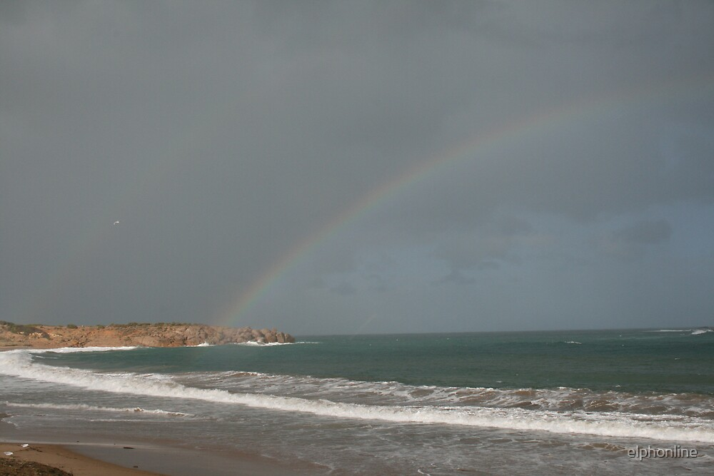Rainbow at Pt. Elliott,S.A. by elphonline