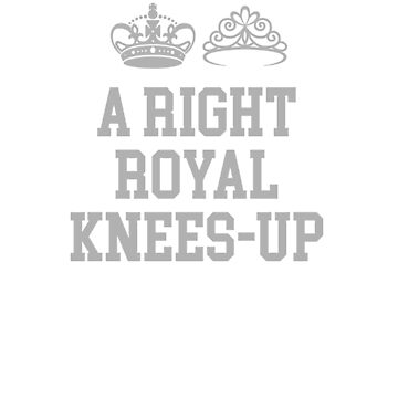 A Right Royal Knees-Up Royal Wedding Souvenir T-shirt by barrowandcole