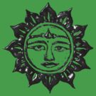 Sun God Liquid Metal by Yvette Bell