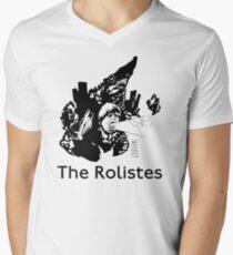The Rolistes Podcast - Kaiju Bojo (Mono) V-Neck T-Shirt