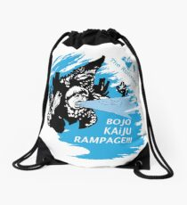 The Rolistes Podcast - Kaiju Bojo (Blue Splash) Drawstring Bag