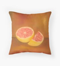 Grapefruit Anthony Mitchell Oil Painting Throw Pillow