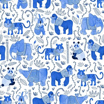 Pattern 80 - Endangered animals in shirts  by IreneSilvino