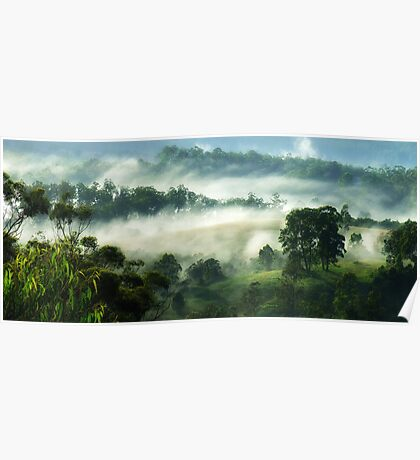 """""""Misty Views"""" Poster"""