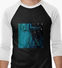 Blue Musician - Guitar Men's Baseball ¾ T-Shirt