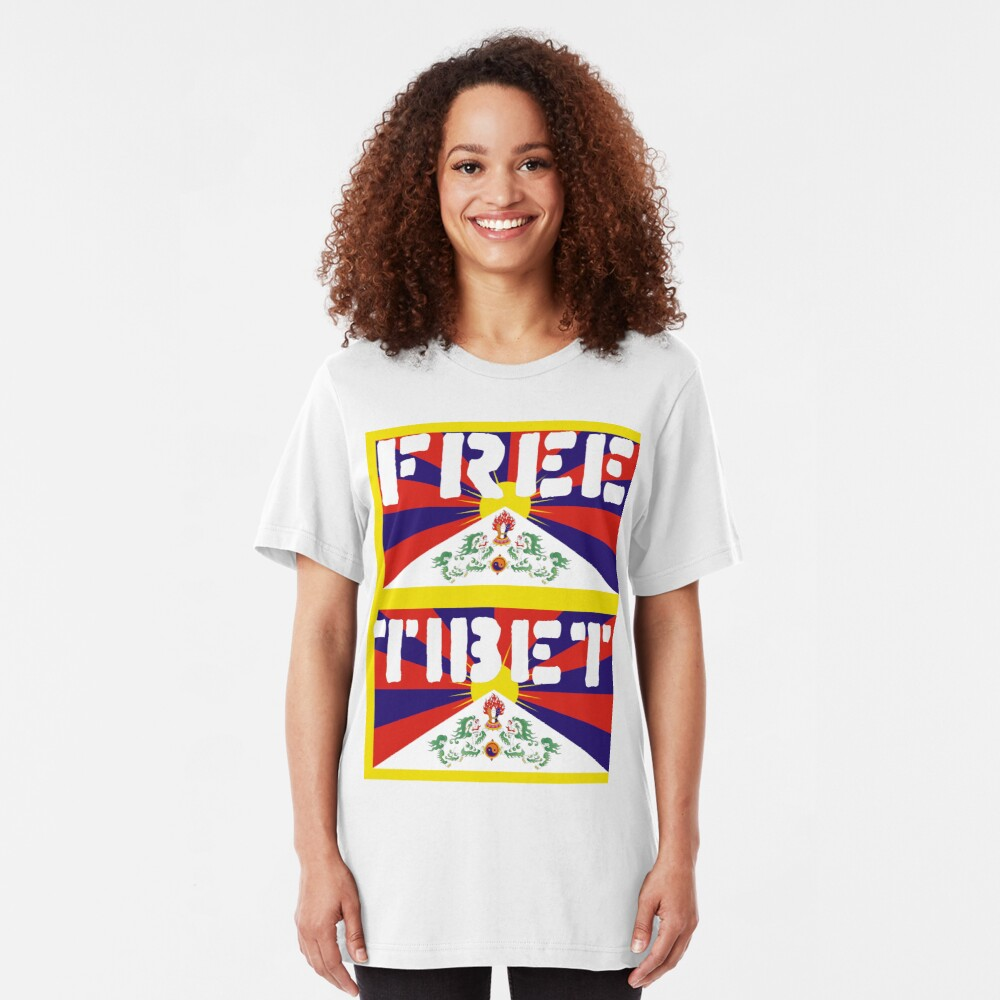 Free Tibet Slim Fit T-Shirt