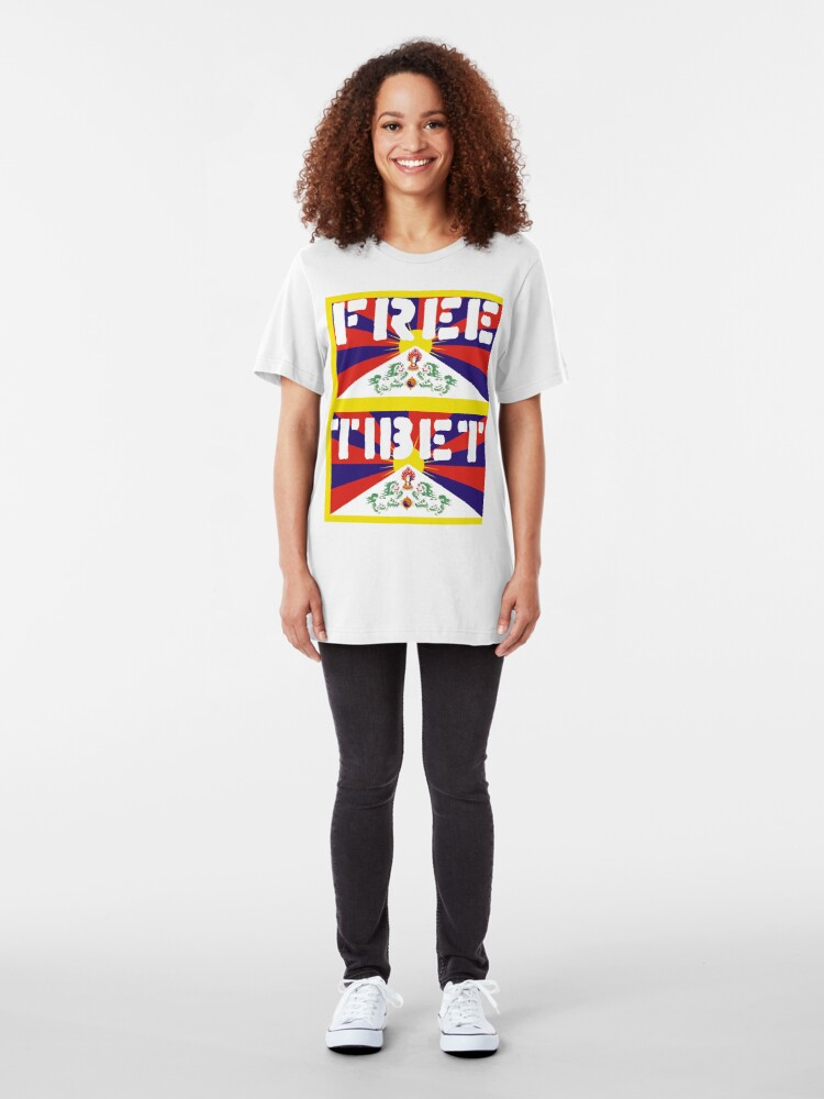 Alternate view of Free Tibet Slim Fit T-Shirt