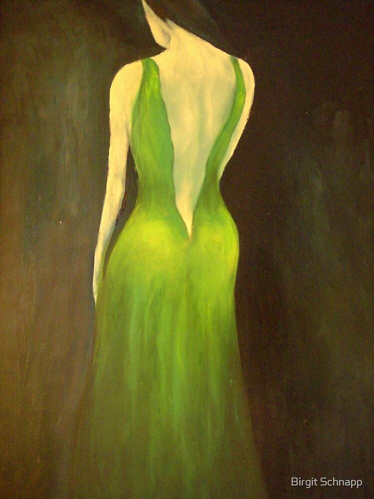 Woman in a green dress by Birgit Schnapp