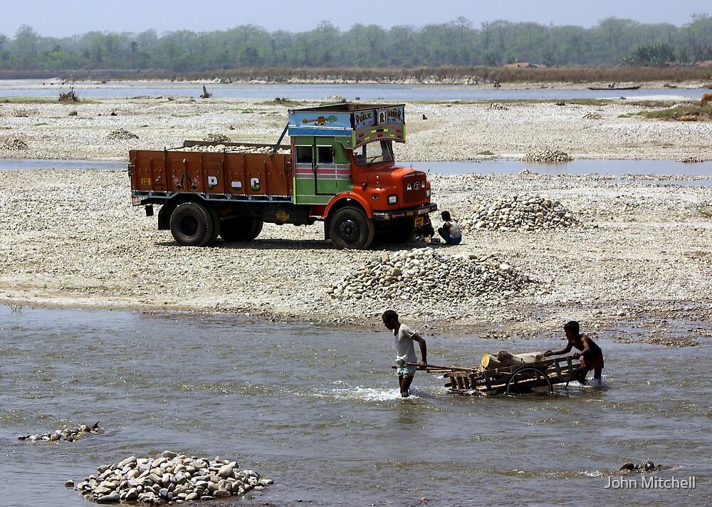 Manas River, Assam, India by John Mitchell