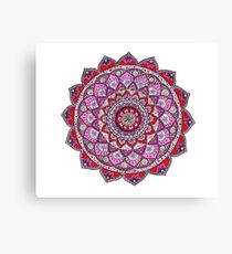 Red and Pink Mandala Canvas Print