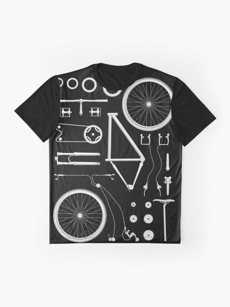 Alternate view of Bike Exploded Graphic T-Shirt