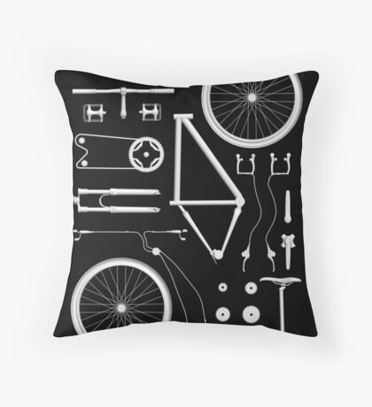 Bike Exploded Throw Pillow