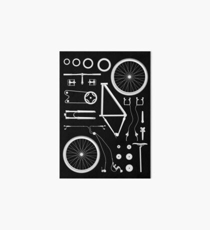 Bike Exploded Art Board