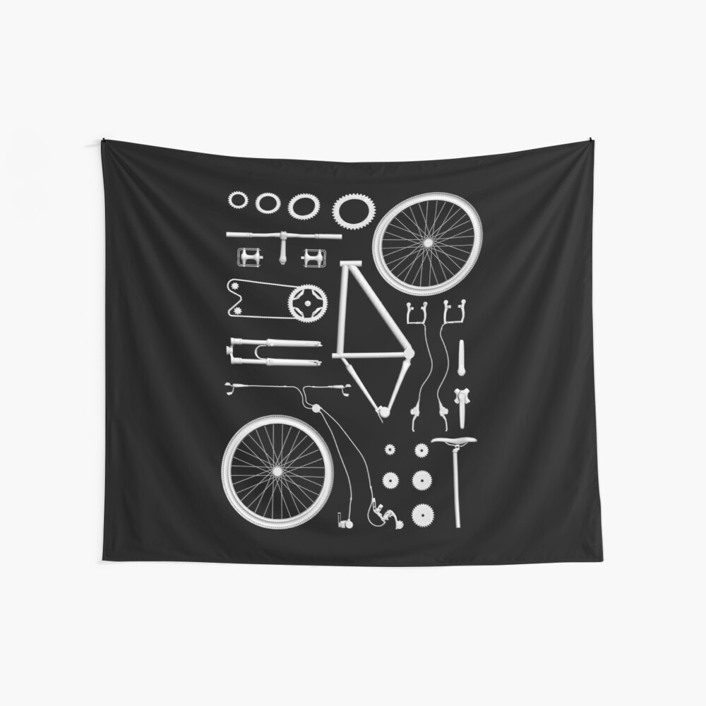Bike Exploded Wall Tapestry