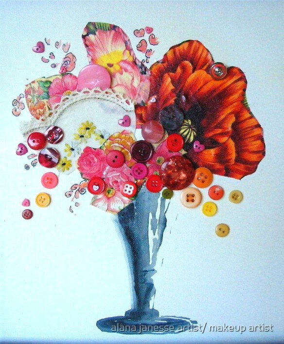 vintage floral2 by alana janesse artist/ makeup artist