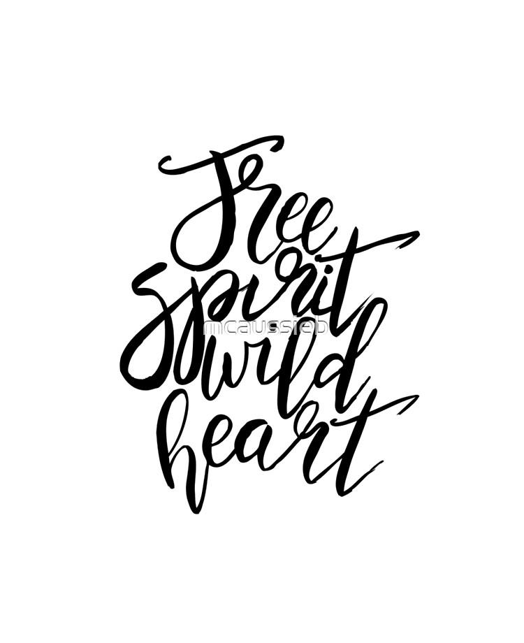 Free Spirit Wild Heart - Black & White Quotes | iPad Case & Skin