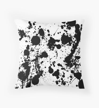 Ink Spattered all Over Throw Pillow