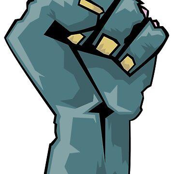 Zombie Fist by d13design