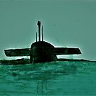 Submarine Off Long Island by michael kenny