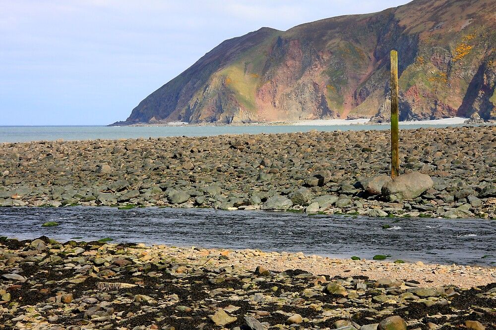 Lynmouth Beach VI by Dave Law