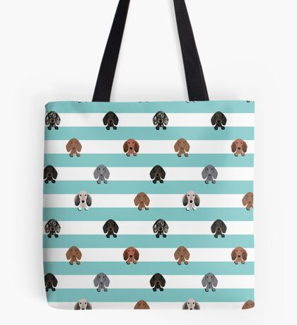 dachshund stripes dog breed doxie gifts Tote Bag