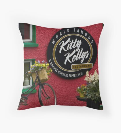 Kitty Kelly's restaurant, Donegal - wide Throw Pillow