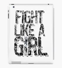 Fight Like A Girl (DC Version) iPad Case/Skin
