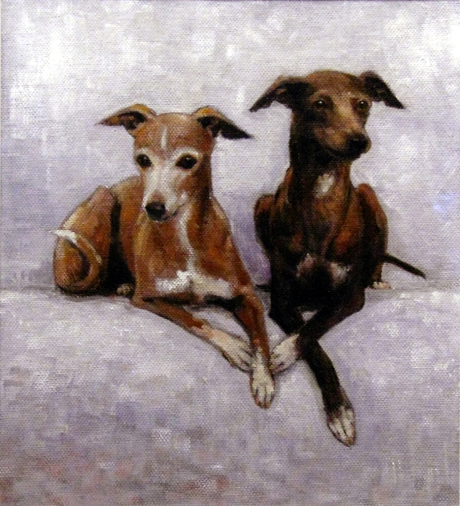 'mother and daugter' Champion Florita Favolosa - Italian greyhound portrait by rickdickinson
