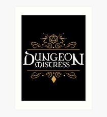 Lámina artística Dungeon Mistress - Game Master Tabletop RPG Gaming