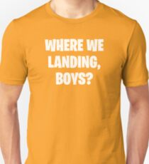 Camiseta ajustada Donde We Landing Boys?