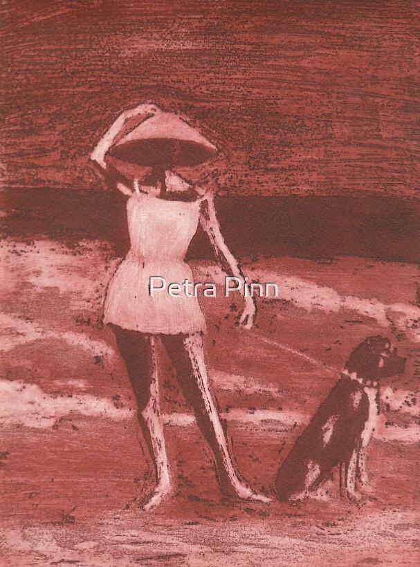walking the dog by Petra Pinn