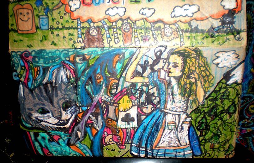 Alice in wonderland again. by Lele