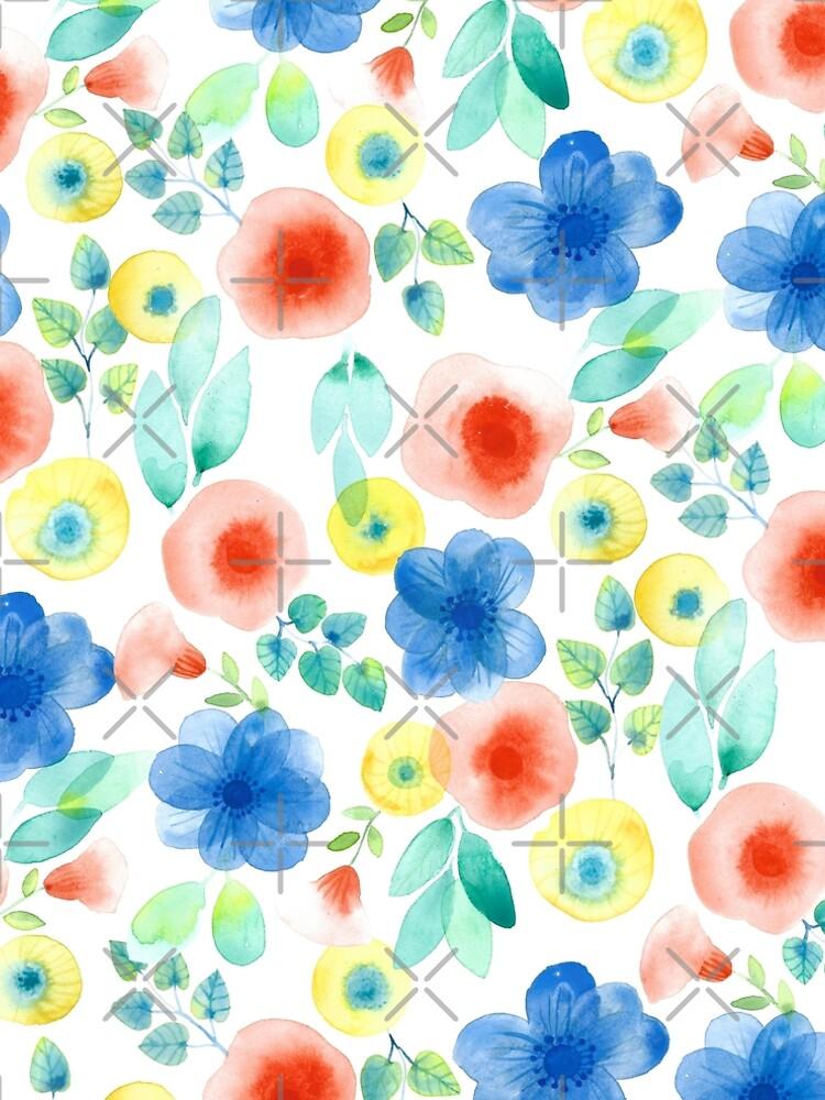 Watercolor Spring Flowers by artiisan
