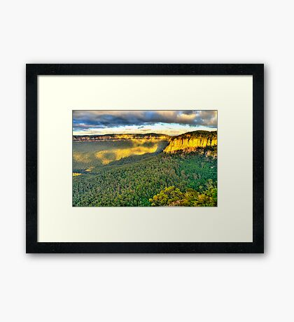 Light Rock - Blue Mountains World Heritage Area - The HDR Experience Framed Print