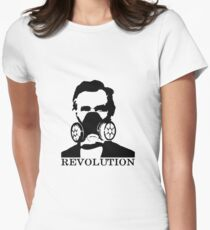 Revolution - Abraham Lincoln Gask Mask Women's Fitted T-Shirt