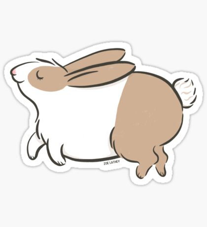 Skipping Honey Bunny Rabbit Sticker