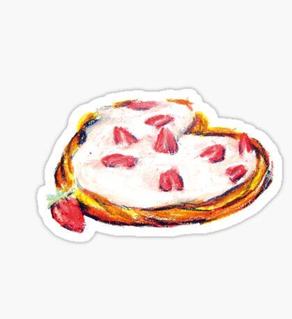 Patisserie fraise dessin Sticker