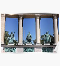 statues Heroes' square Budapest Hungary Poster