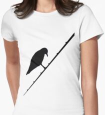 Black bird Womens Fitted T-Shirt