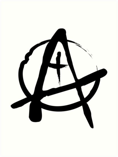 Anarchist Freehand Anarchy Symbol Art Prints By Benjiking Redbubble