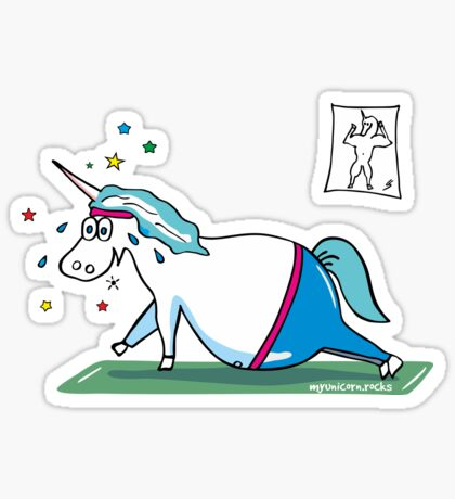 Mopsiges Einhorn Sticker