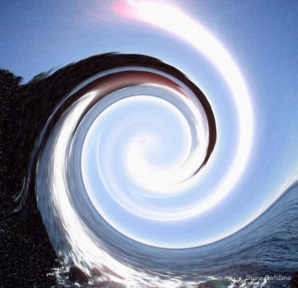 Sunrise Ocean Spiral Swirl  by Stone Bandana