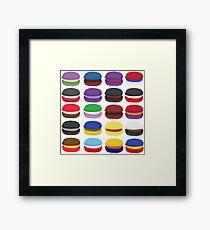 Superhero Macarons Unite Framed Print