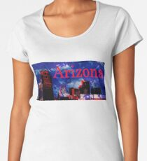 Arizona Proud - Phoenix Skyline Premium Scoop T-Shirt