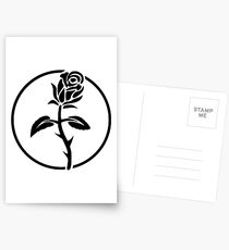 Black Rose of Solidarity. Anarchists Rose. Postcards