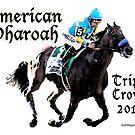 American Pharoah Triple Crown 2015 by ayemagine