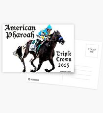 American Pharoah Triple Crown 2015 Postcards