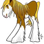 Mustard - Hay Farm Heavy Horse Caricature by Jan Szymczuk