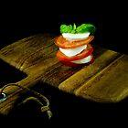 Tomato, Basil, Mozzarella by RonSparks